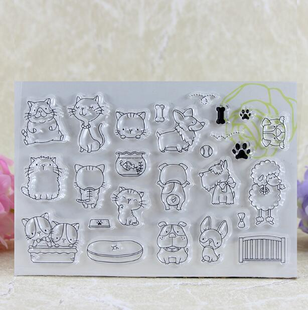 Scrapbook DIY Photo Album Card Rubber Chapter Transparent Seal Cartoon animal 2 Clear Stamp 79 scrapbook diy photo album card rubber chapter transparent seal month permanent calendar clear stamp 136