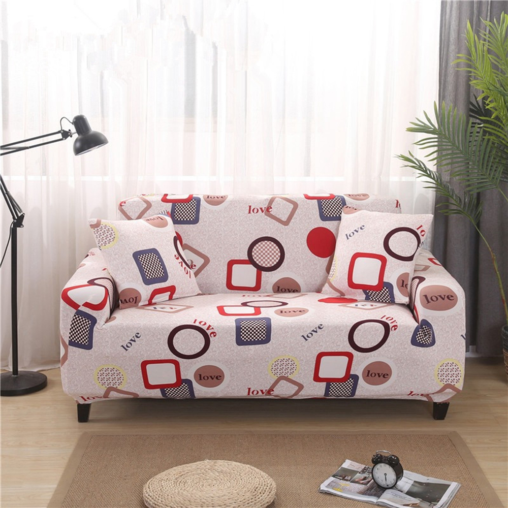 Geometrical Elastic Sofa Cover Stretch Simple Love Corner