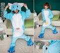 Мода Все в одном Синий Слон Косплей Костюм Для Взрослых Onsies Фланель Шерсти Животных Pajamase Пижама для Женщин Вечернее Платье