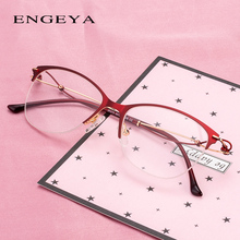 Metal Women Glasses Clear Fashion Small Size Elegant Luxury Optical Oval Women Eyeglasses Frame #IP273
