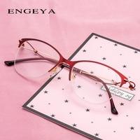 adedd8c9dee059 Metal Women Glasses Clear Fashion Small Size Elegant Luxury Optical Oval Women  Eyeglasses Frame IP273