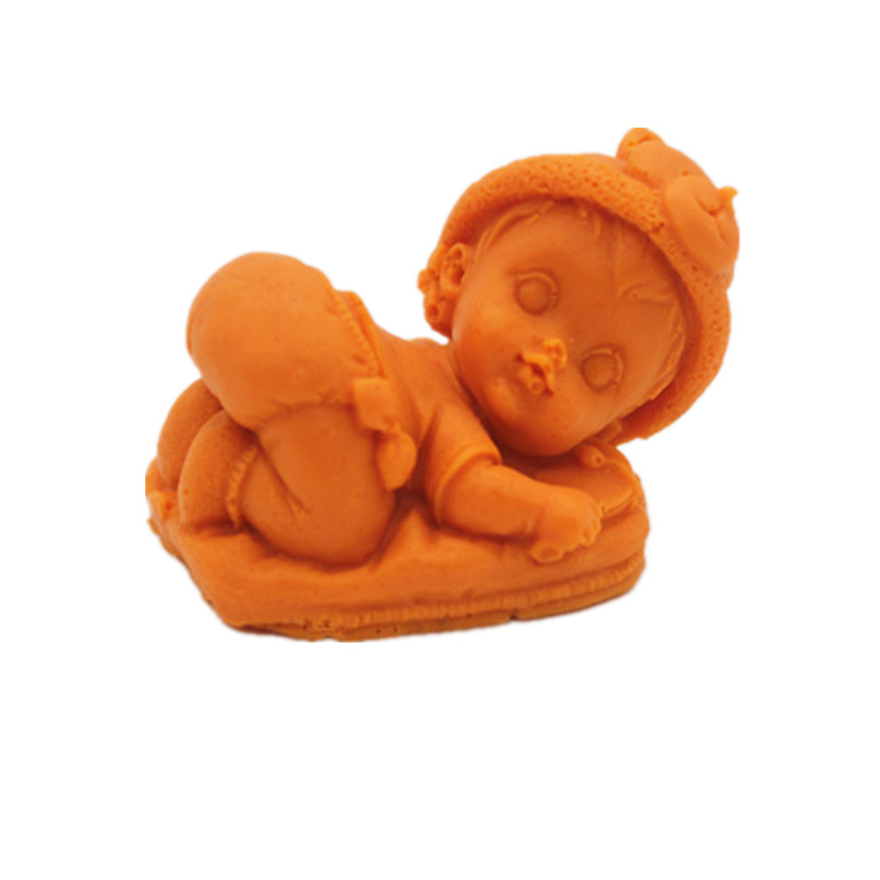 Side sleeping baby cake dessert baking tool sugar cake silicone mold handmade chocolate jelly pudding mold cake decoration mold in Cake Molds from Home Garden