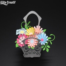 Glita Creatif Flower Basket Wedding Cutting Dies Stencil DIY Scrapbooking albulm photo Embossing Cut Stencils