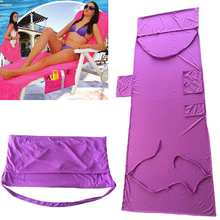 Microfiber Magic Ice Towel Sunbath Summer Lounger Cool Bed Mate Portable Garden Chair Cover Towel Beach Towel with Pocket Toalla(China)