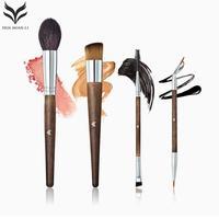 HUAMIANLI 4 Pcs Set Professnial Women Face Makeup Synthetic Brushes Extremely Soft Brush Set Foundation Powder