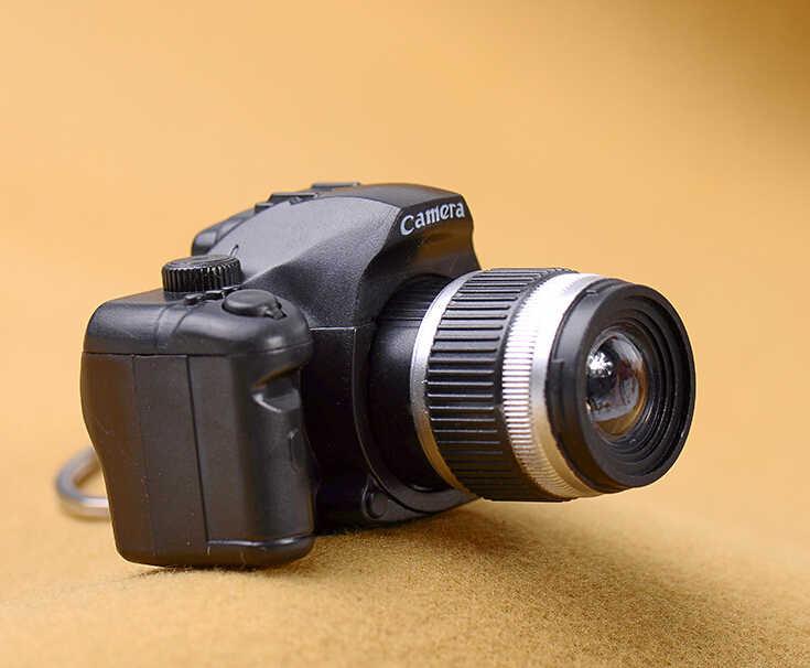 Mini câmera chaveiro câmera slr chaveiro chaveiro chaveiro do carro chaveiro led lanterna colorida kaca chaveiro para o presente atacado 17211
