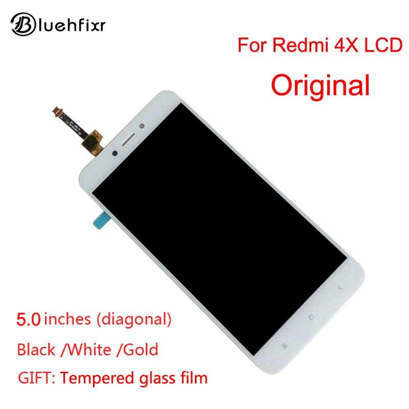 Original Xiaomi Redmi 4X pantalla LCD de pantalla táctil de buena digitalizador Asamblea reemplazo para Xiaomi Redmi 4X5,0 pulgadas