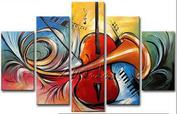 Cuadros Decoracion 5 piece panel canvas art Modern abstract hand painted picture oil painting hand painted canvas oil paintings фото