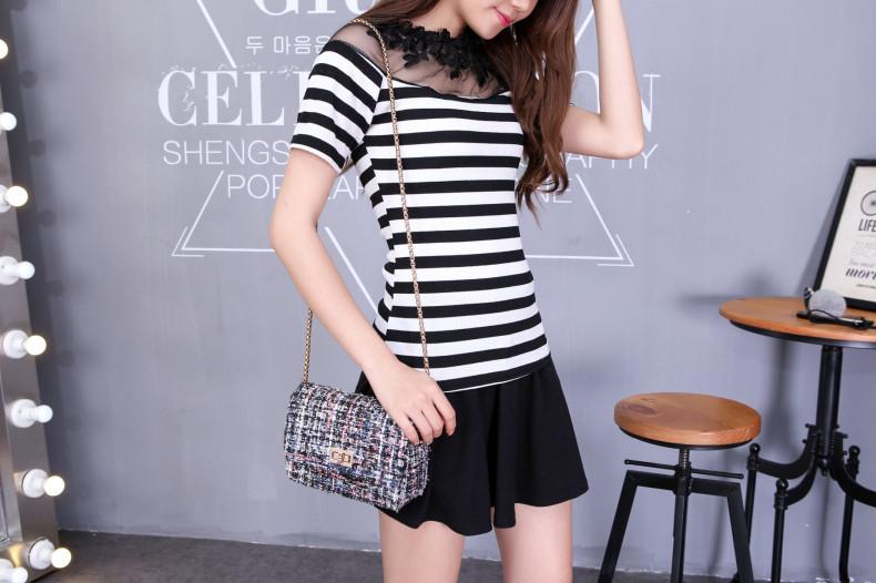HTB1xMuJJVXXXXbJXpXXq6xXFXXX3 - Blusa black white striped blouse shirts long sleeve