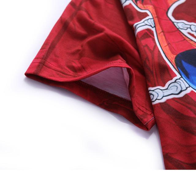 Mr.1991INC&Miss.GO New T Shirt Men Summer 3D Printed Men T-shirts Short Sleeve Fitness Tops Red Spider Man Tees Shirt Brand clot