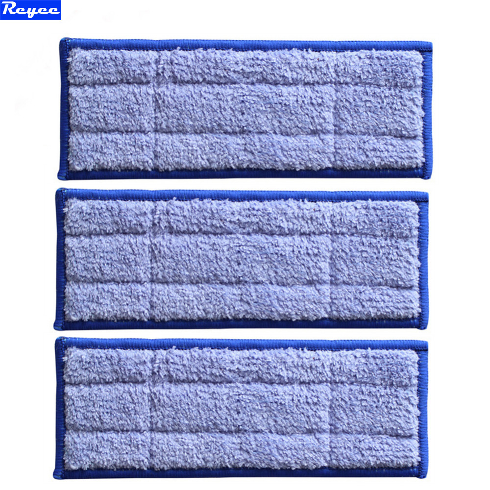 New 3pcs Microfiber Fabric Replacement Triple-pass Washable wet sweeping Pad mopping pads for iRobot Braava Jet 240 Free Post microfiber wet room pads 24 in long split nylon polyester blend blue