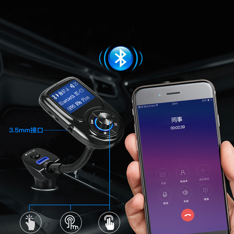 Thbelieve 2 PCS Car Charging Bluetooth Car Charger Free Call Music Player Auto Charge Dual USB Mini Car-Chargers Drop ShippingThbelieve 2 PCS Car Charging Bluetooth Car Charger Free Call Music Player Auto Charge Dual USB Mini Car-Chargers Drop Shipping