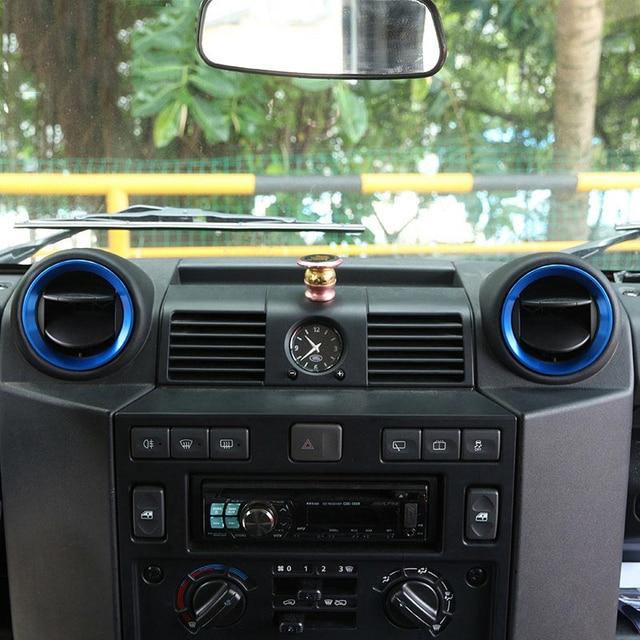 for land rover defender 110 2015 2016 aluminum alloy car interior air conditioning outlet vent. Black Bedroom Furniture Sets. Home Design Ideas
