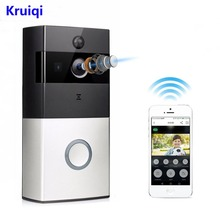 купить Kruiqi Wireless Intercom Doorbell Video Camera WiFi IP 720P PIR Alarm IR Night Vision Two Way Audio Home Security Camera в интернет-магазине