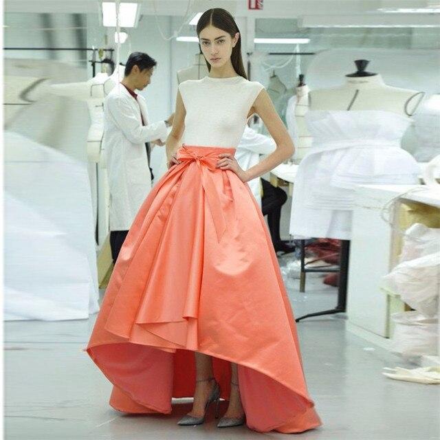 b0708800c 7XL más del tamaño rojo negro Glamour falda de cola de milano de la alta  cintura
