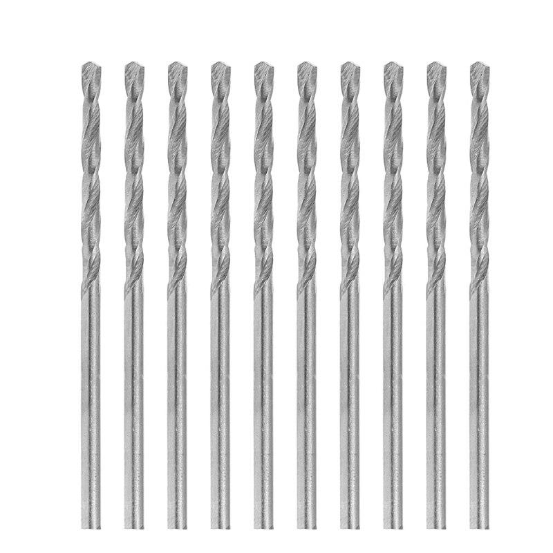 Multifunction 10 Pcs Tiny Micro HSS 1.4mm Straight Shank Twist Drilling Bits