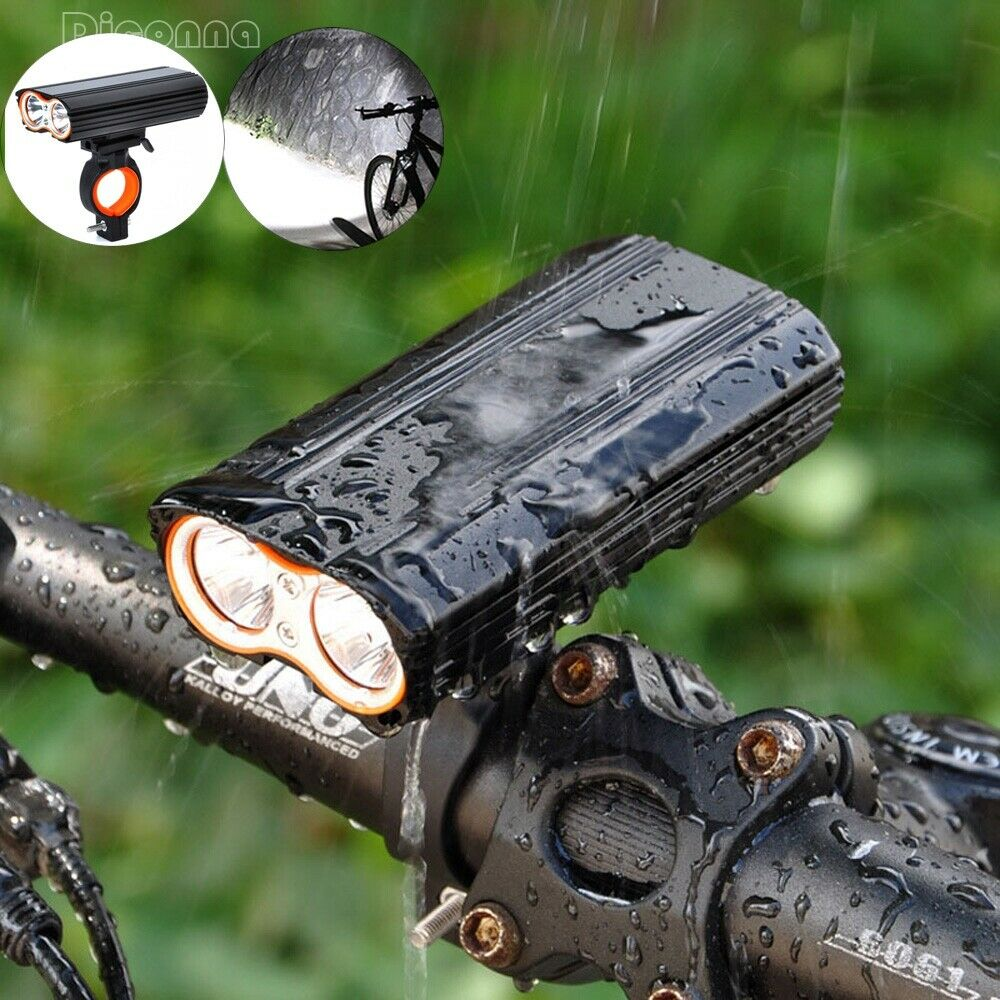 Cycling Accessories Bike Bicycle Lights USB LED Rechargeable Set Mountain Cycle Front Back Headlight