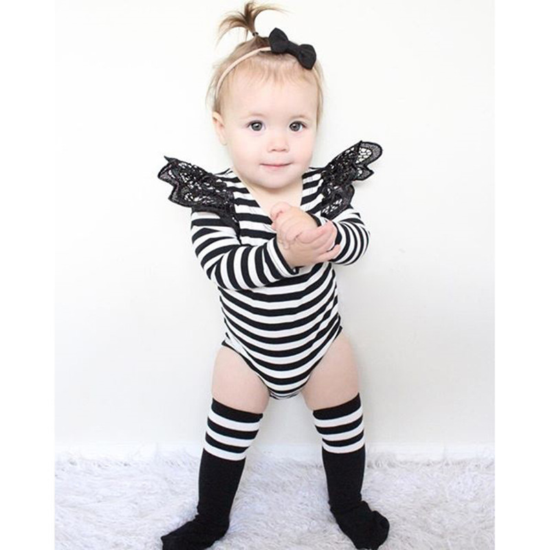 Bright Spring Summer Baby Rompers Lace Layette Kids Clothes Newborn Jumpsuit Fashion O-neck Girl Romper Infantil Children Clothing