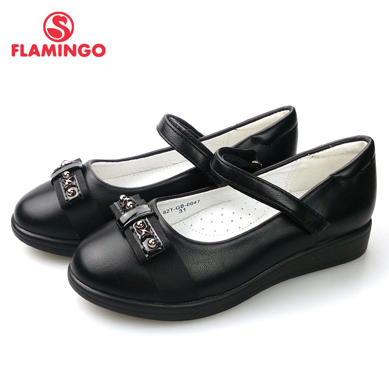 FLAMINGO 2018 Foot Arch design Spring&Summer Hook&Loop Outdoor Size 31-36 school shoes for girl Free Shipping 82T-GB-0847/0848