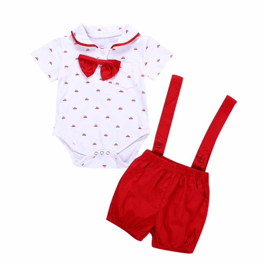 Summer Short Sleeve Cotton Cool Baby Outfit For Girl Fashion Print Clothes + Solid Suspender Short Pants 2pcs Baby Clothes Set