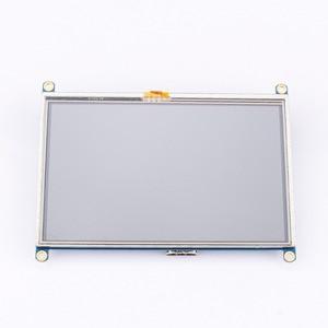 Image 3 - 1pc 800*480 5 인치 HDMI 터치 스크린 디스플레이 TFT LCD 패널 모듈 범용 모든 라즈베리 파이 디스플레이 800x480 HDMI 모니터