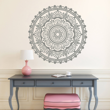 YOYOYU Mandala Vinyl Wall Stickers Lotus Flower Namaste Bohemian Removeable Decal Bedroom Home Decoration Poster ZX379 high quality flower fairy shape removeable wall stickers