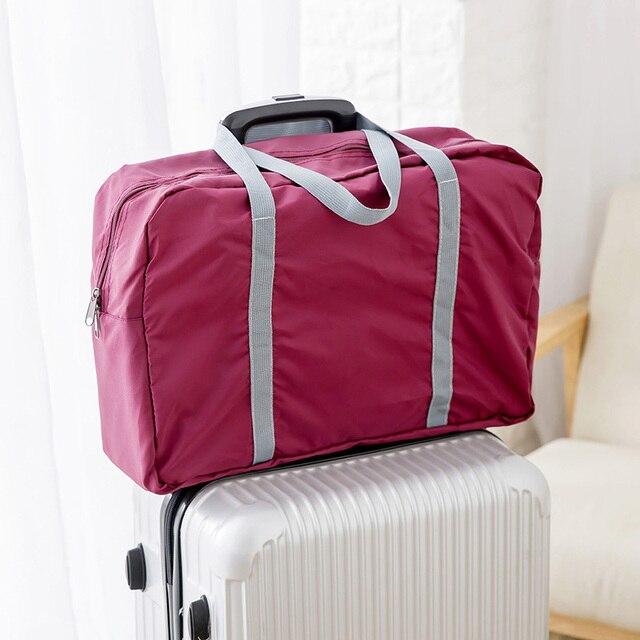Grande Casuale Borse Da Viaggio In Nylon Vestiti sacchetto Casi di Viaggio  Dei Bagagli Organizador Organizer a20f50270b5