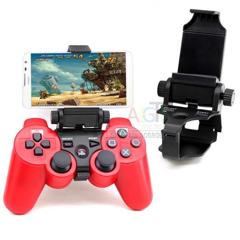 US $7 99 |SmartPhone Clamp Mount Adjustable Bracket for Sony Playstation 3  PS3 Controller Holder for iPhone Samsung Game Clip Holder-in Replacement