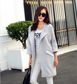 2017 Women Spring Coat New Fashion Femal O-Neck Three Quarter Sleeve Women Trench Coat Spring Autumn Women Windbreaker Plus Size