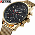 CURREN 2016 Relógios de Marca de Luxo Homens Relógio de Aço Cheio de Moda Relógio De Quartzo-Relógio Casual Masculino Sports Data Relógio de Pulso Relojes 8227