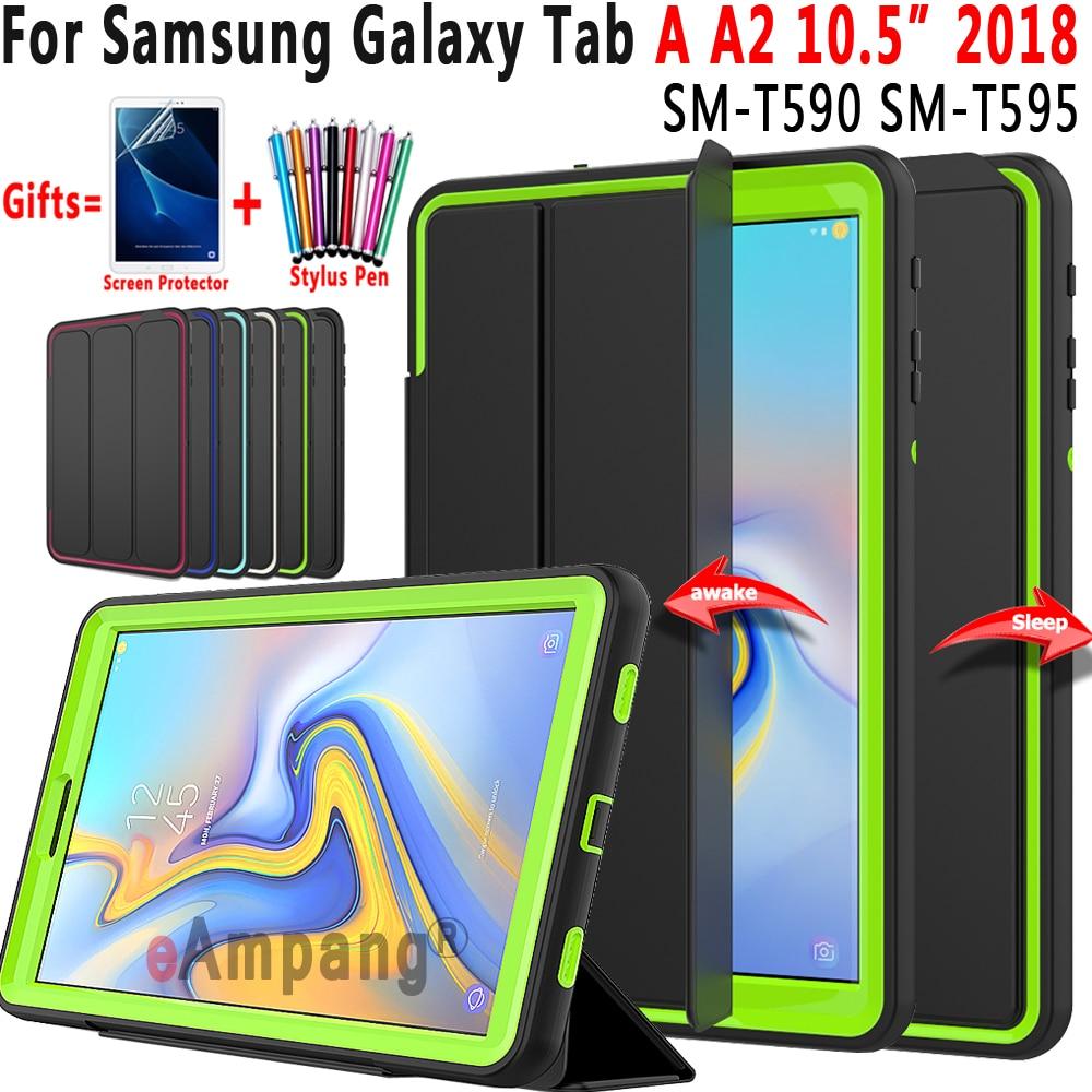 Premium Magnetic Cover Smart Auto Sleep Awake Case For Samsung Galaxy Tab A A2 10.5 2018 T590 T595 SM-T590 SM-T595 Funda Coque