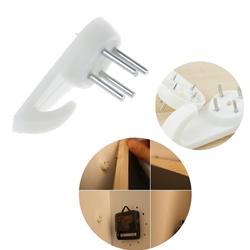 50 шт. белая пластиковая невидимая настенная фоторамка для фотографий крючок для ногтей вешалка