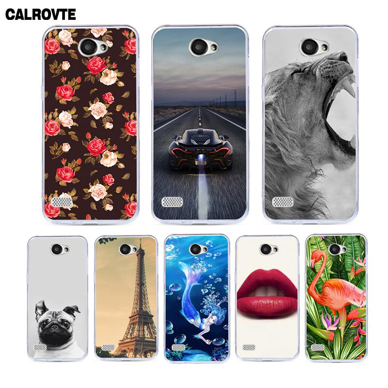 CALROVTE Phone Cover for <font><b>LG</b></font> <font><b>Max</b></font> <font><b>X155</b></font> LGX155 <font><b>LG</b></font>-<font><b>X155</b></font> X 155 Case for <font><b>LG</b></font> Bello II / Prime 2 X150 X165 Silicone Animal Cases image