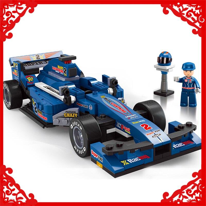 SLUBAN 0353 287Pcs Formula F1 Racing Car Model Building Block Construction Figure Toys Gift For Children Compatible Legoe велосипед formula f 3000 оранжевый
