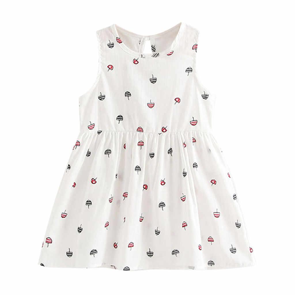 Платье для маленьких девочек летнее платье принцессы Детские вечерние платья без рукавов для свадьбы vetement bebe fille ete vestidos infant