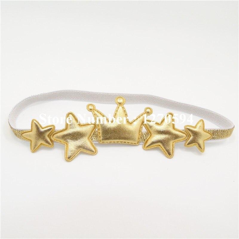 Одежда высшего качества Серебряная звезда Золотая Корона для девочек повязка на голову Малыш Hairband милой принцессы головной убор мода Фея оголовье аксессуары