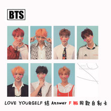New 7Pcs/Set KPOP BTS Photo Card Bangtan Boys LOVE YOURSELF Answer F Album Paper Cards Self Made LOMO Card Photocard(China)
