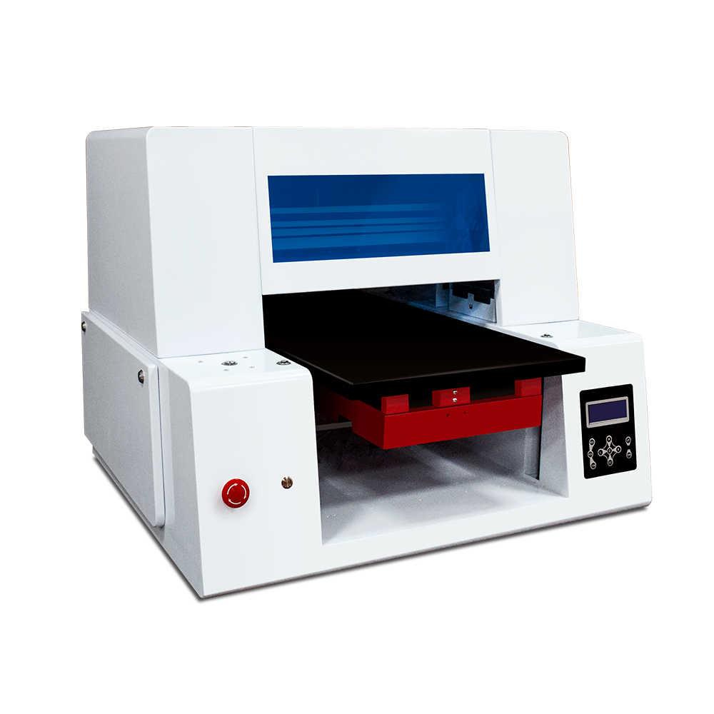 Otomatis Kain T-shirt Printer 6 Warna Digital Kustom DIY Garmen untuk 2 Epson 4720 Kepala Ponsel Case Kartu Inkjet Flatbed printer