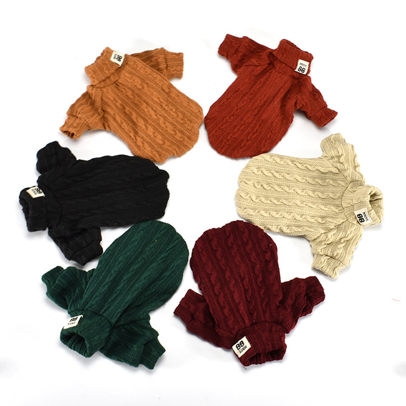 Woolen Dog Jacket in Turtleneck Design for Small Dogs as Winter Clothing 2