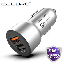 Car Charger Quick Charge 3.0 Dual USB Car-Charger for Mobile Phone Qualcomm QC 3.0 Fast Car Charging USB Charger Adapter MTK FCP(China)