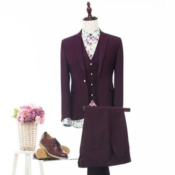 High Quality Groom Tuxedo 13 Styles Groomsmen Notch Lapel Wedding/Dinner Suits Best Man Bridegroom (Jacket+Pants+Vest)B363
