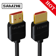 SAMZHE Slim HDMI Cable HDMI to HDMI Cable HDMI 2.0 4K 3D for PS3 Projector HD LCD Apple TV Computer Cables 0.5M 1M 1.5M 2M 3M цена