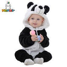 MICHLEY Spring Autumn Baby Clothes Flannel Baby Boys Clothes Cartoon Animal Jumpsuits Infant Girl Rompers Baby Clothing XYZ15088(China)