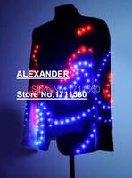LED luminous Western style clothes for performance/business suit/light up suits