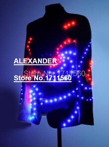 LED-lysande kläder i västerländsk stil för prestanda / affärsdräkt / ljusdräkter