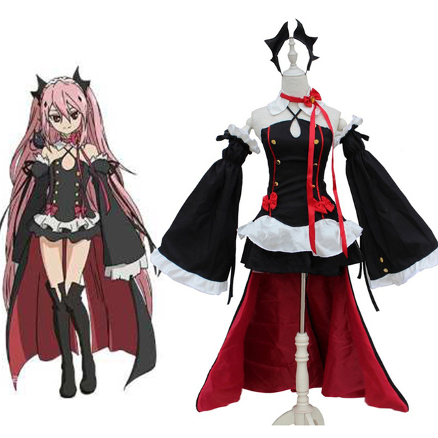6bb88b3ac Owari No Seraph Of The End Krul Tepes Hair Accessories Cosplay Costumes  Lolita Dress Vampire Uniforms For Halloween Party