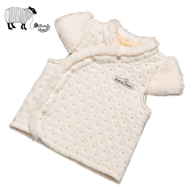 Bebê recém-nascido Da Menina do Outono Inverno da Pele Do Falso Casaco Colete para Crianças Criança 100% Algodão Meninas Grossos Coletes Outwear Roupas Outfits