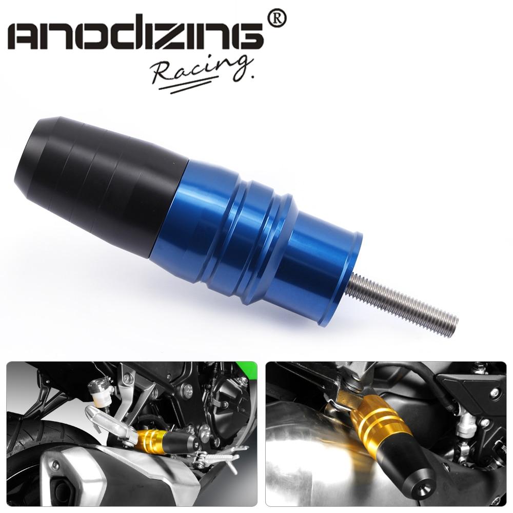Aluminum  8mm screw Motorcycle CNC Exhaust Muffler Protector Crash Pads Sliders for Yamaha YZF-R3 15-16