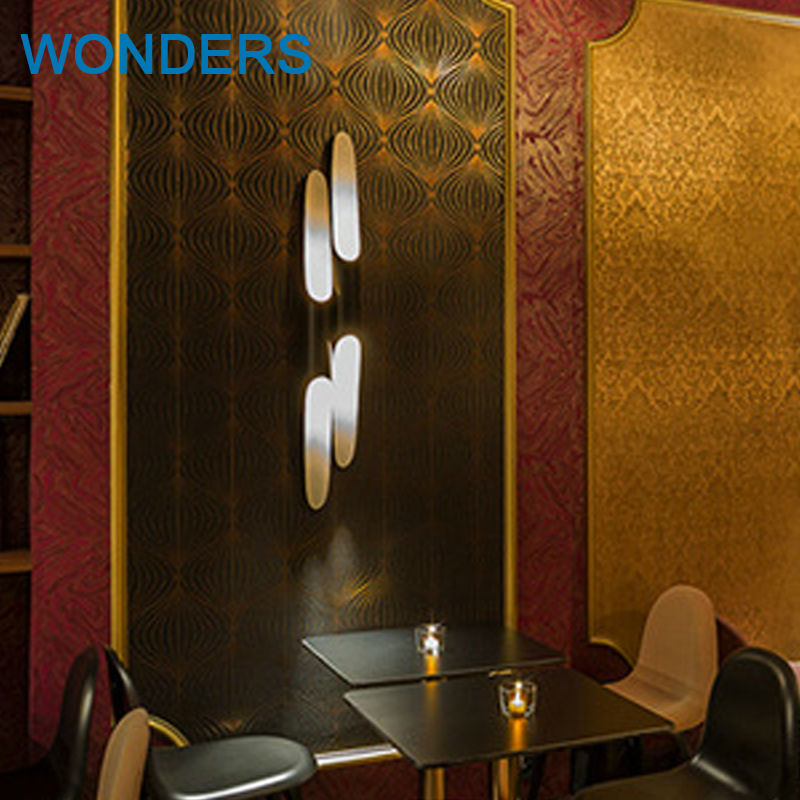 ФОТО Modern Europe Creative Fashion bamboo pipe shape Black Aluminum Led Wall Lamps For hotel Restaurant Bar AC 80-265V