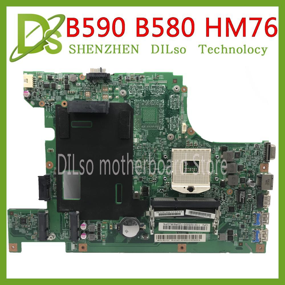 KEFU 11273-1 B590 B580 Laptop motherboard mainboard Para lenovo B590 48.4TE05.011 HM76 Para intel I3 I5 I7 Teste trabalho 100% original